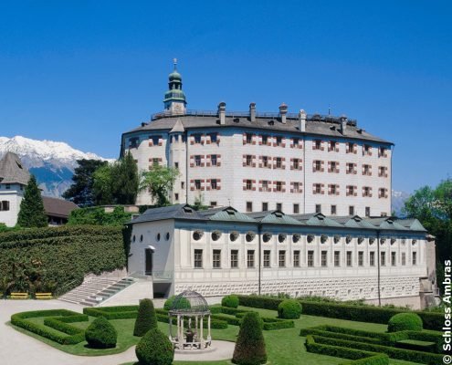 Ambras Castle, a Rennaissance castle and palace located in the hills above Innsbruck