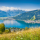 Beautiful mountain landscape in the Alps with Lake Zell, Zell am See
